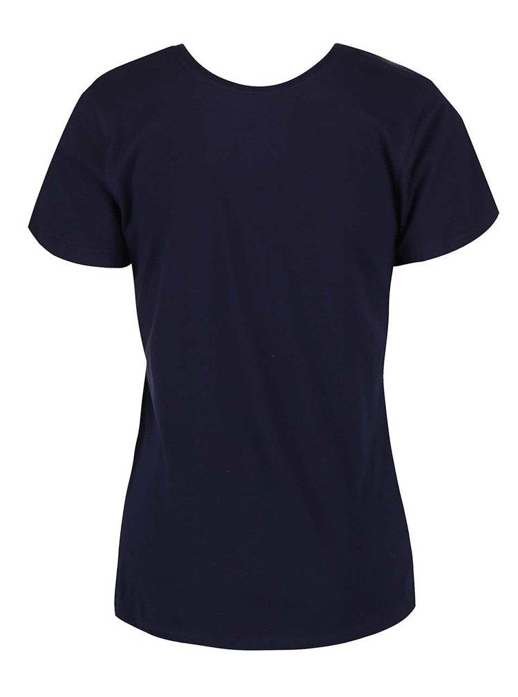 Tmavě modré tričko s potiskem Roxy Crew Sun