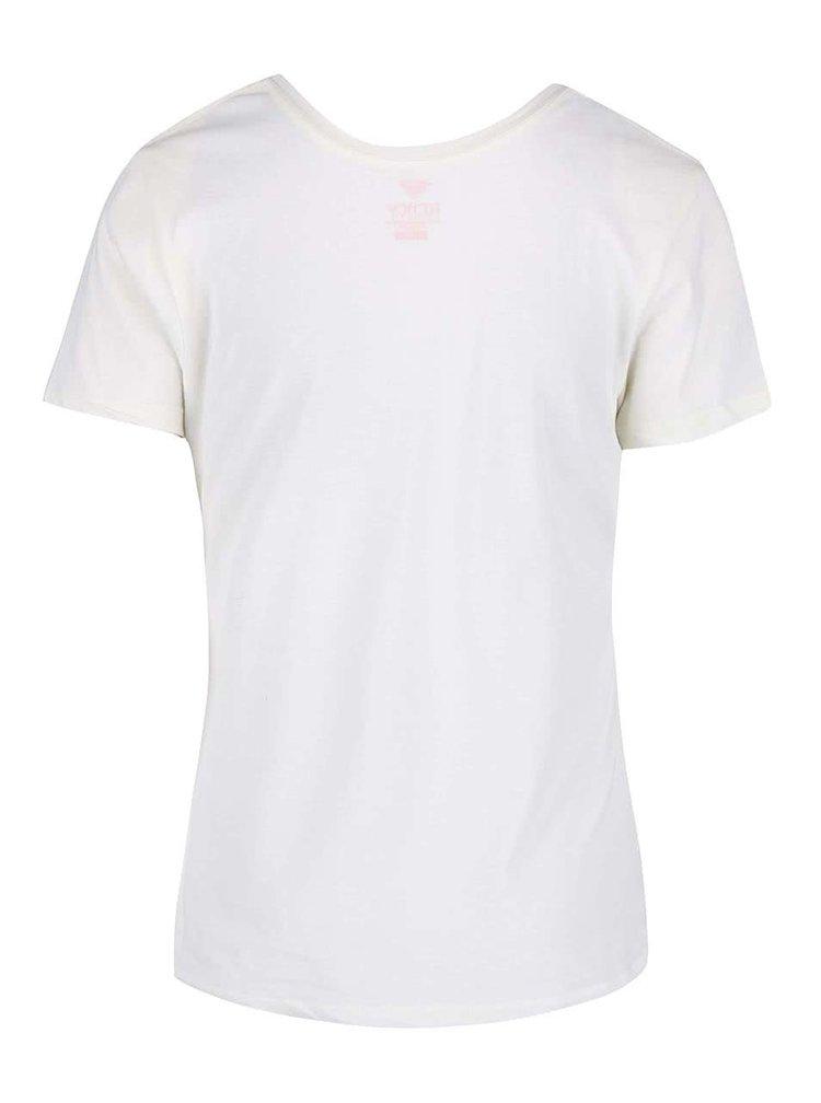 Tricou Roxy crem cu print