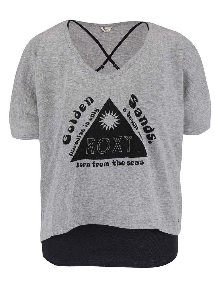 Sivé tričko s tielkom Roxy Parson