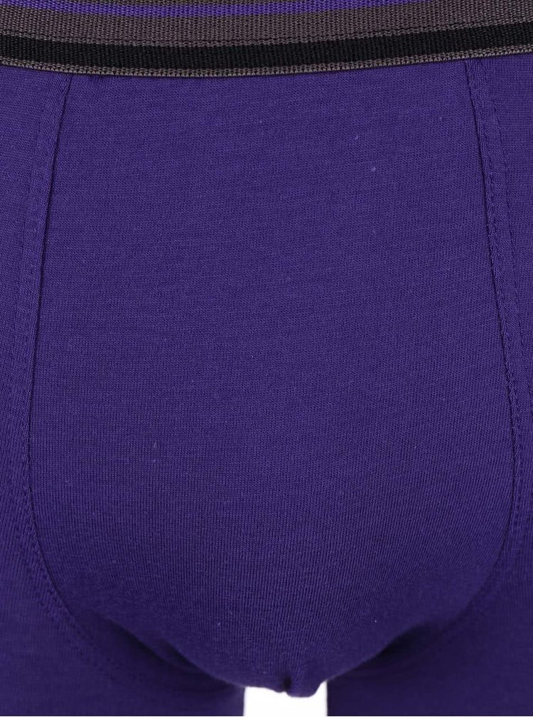 Sada tří boxerek v černé a fialové barvě Marginal