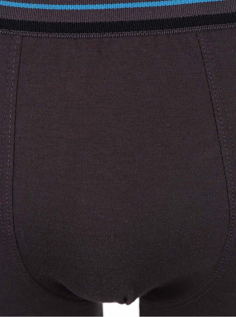Súbor troch boxeriek v čiernej a sivej farbe Marginal