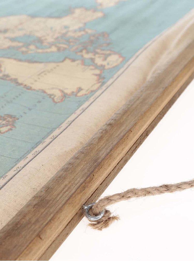 Drevená závesná mapa Sass & Belle