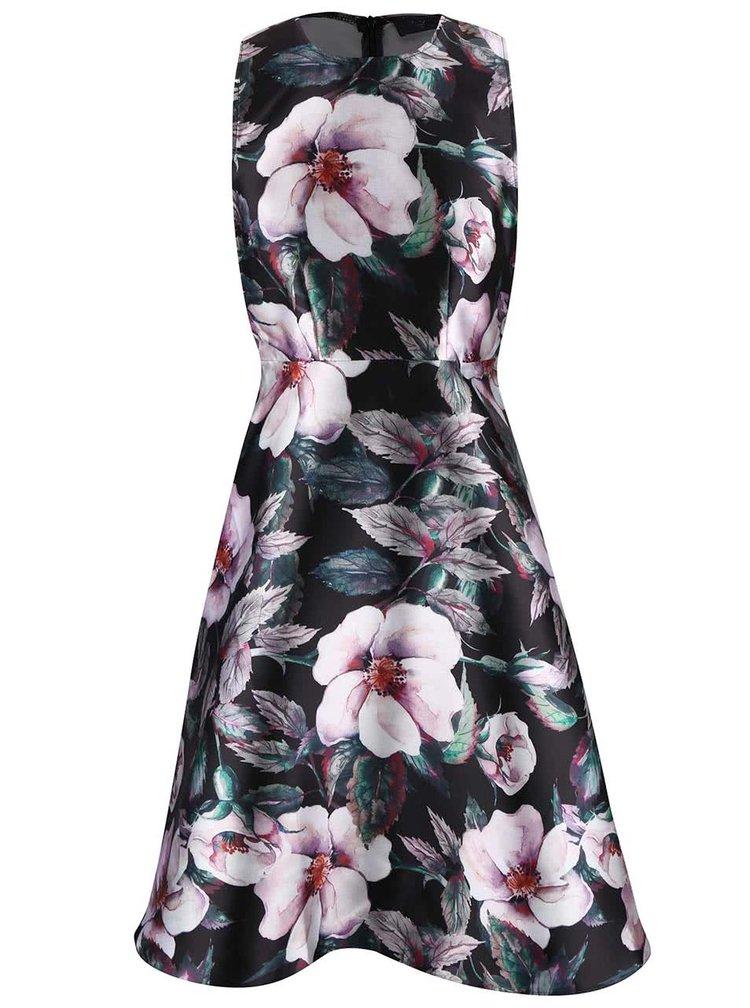 Černé šaty s květinovým vzorem AX Paris