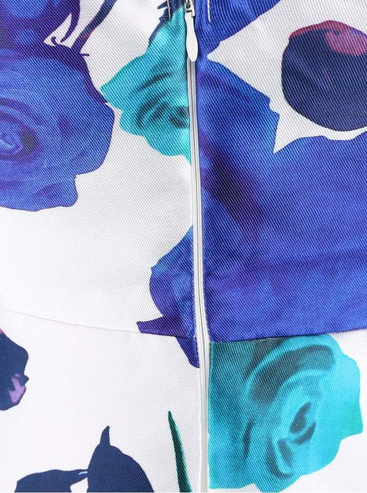 Bílé šaty s modrými květy AX Paris