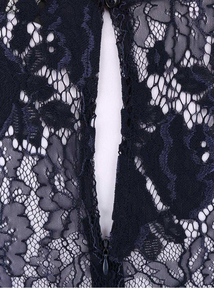 Rochie AX Paris albastru închis cu dantelă