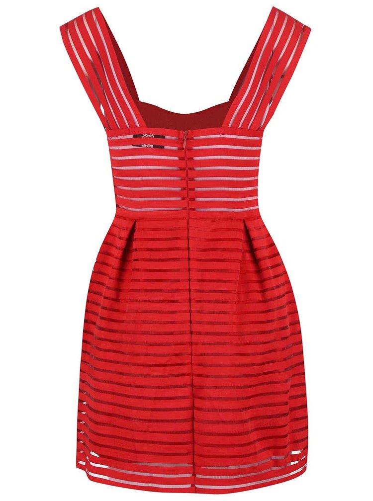 Červené elastické šaty AX PARIS