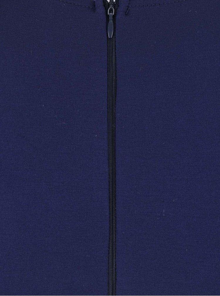 Rochie AX Paris albastru inchis, cu detalii aurii