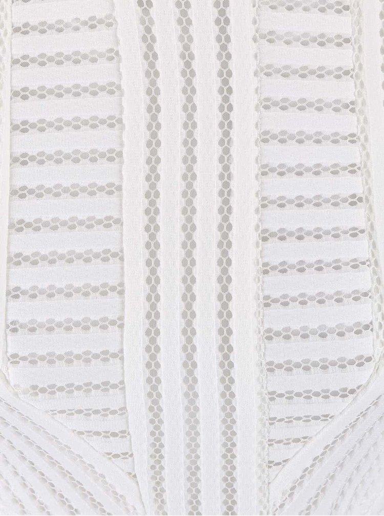 Bílé perforované midi šaty AX Paris