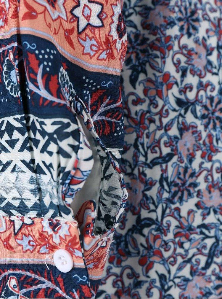 Farebné košeľové šaty s potlačou AX Paris