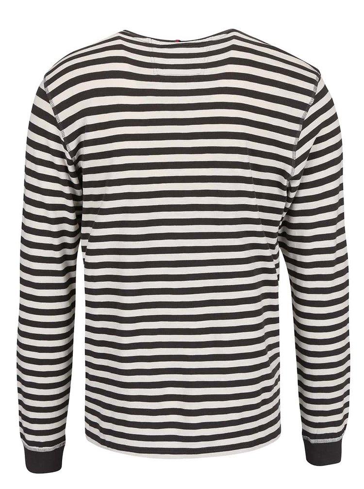 Bluză s.Oliver albă/maro cu dungi