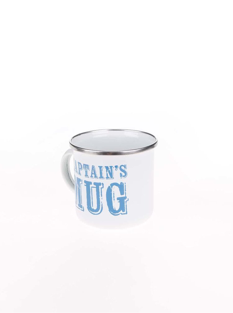 Cană metalică albă Sass & Belle Captain's Mug