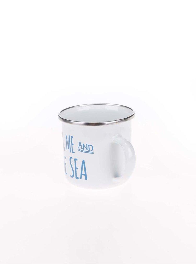 Cană metalică albă Sass & Belle You, Me & Sea