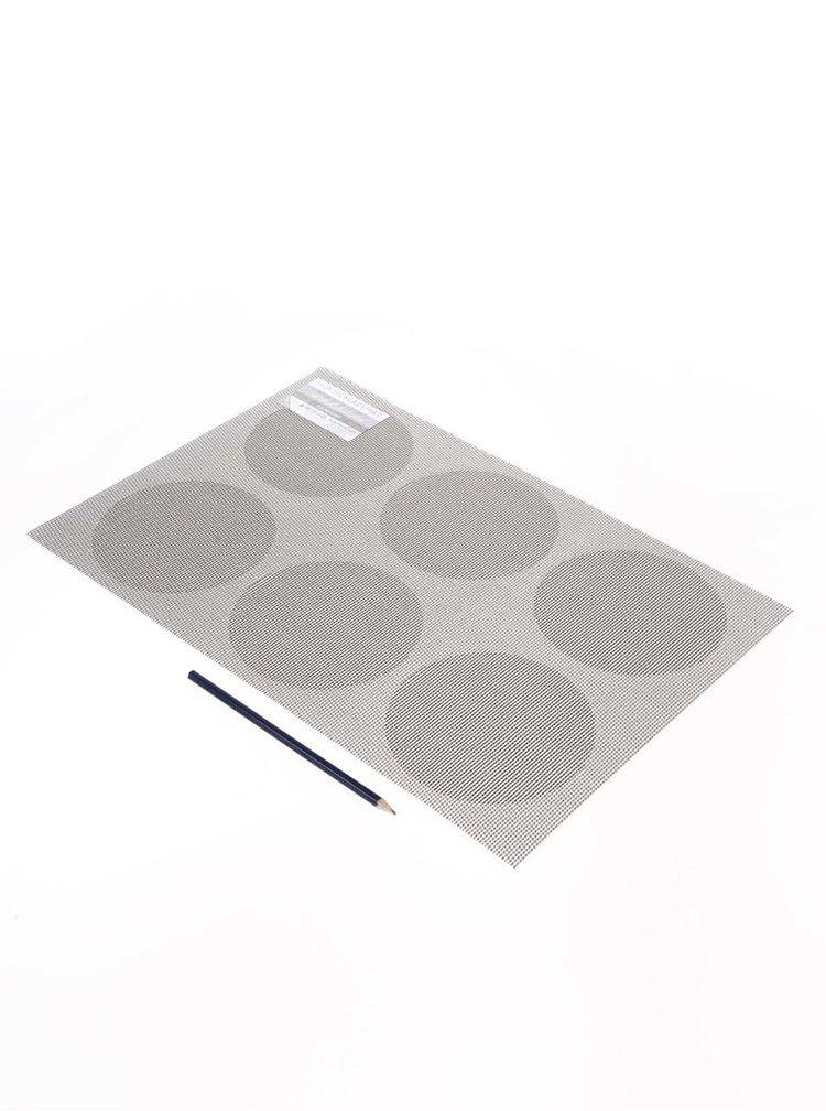 Sivé obojstranné prestieranie s krúžkami Kitchen Craft