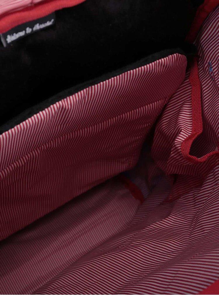 Modrý vzorovaný batoh s přední kapsou Herschel Little America Mid-Volume