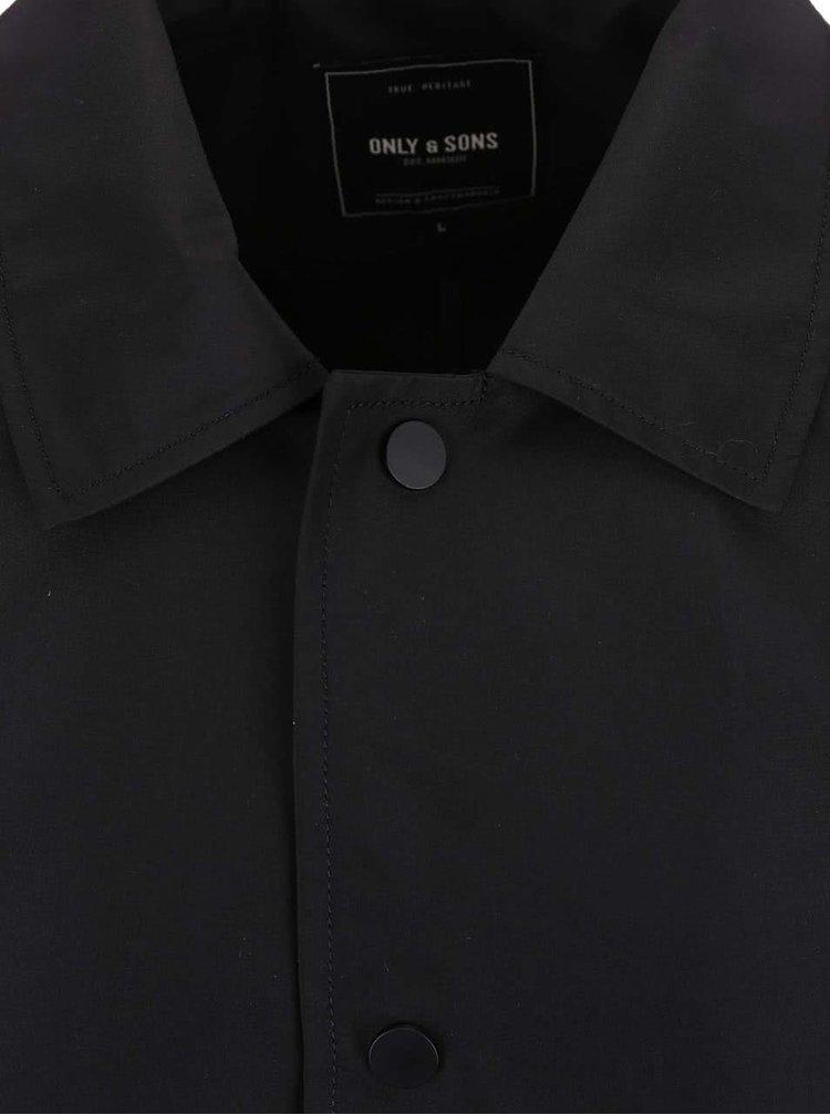 Čierny kabát ONLY & SONS Matthias