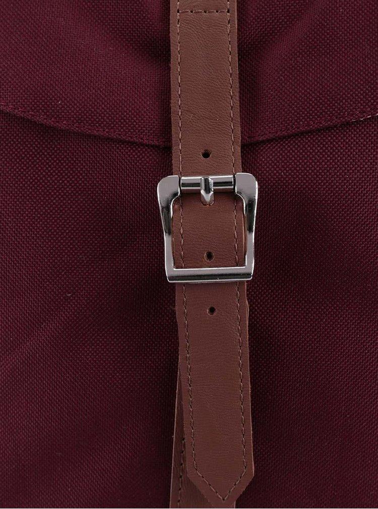 Vínový batoh s hnedým popruhom Herschel Post