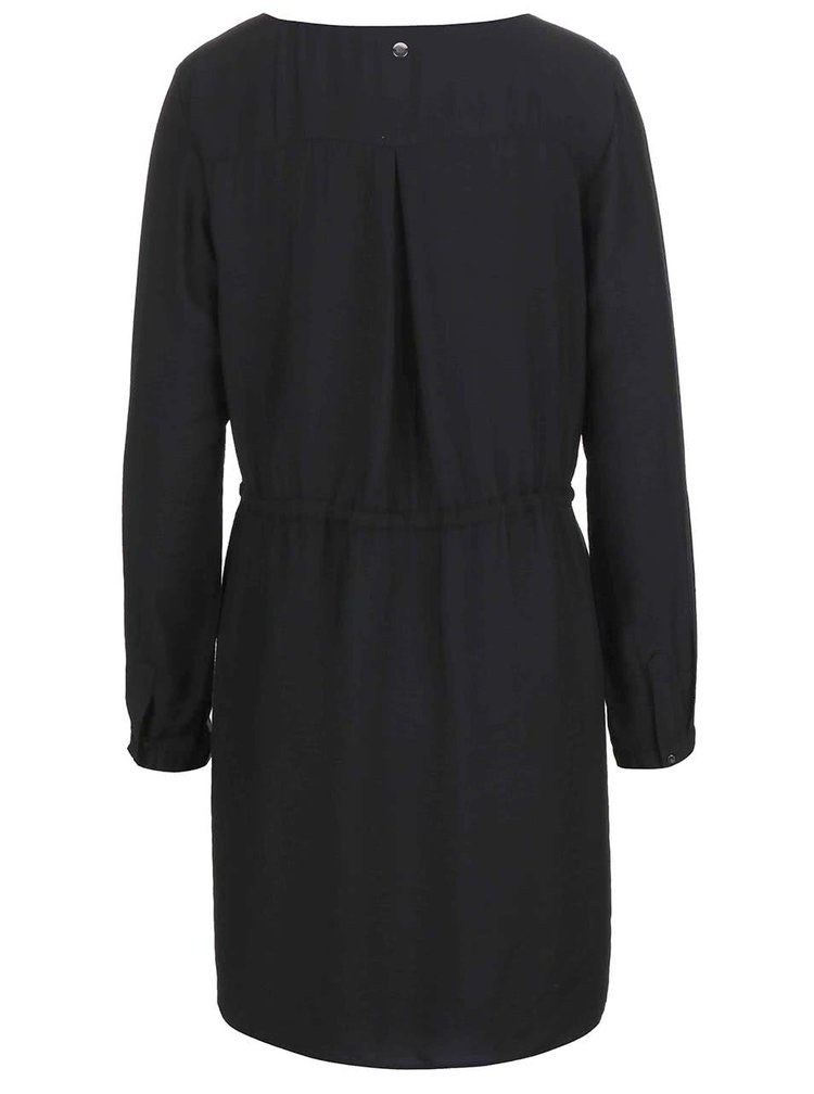Černé šaty s 3/4 rukávy s.Oliver