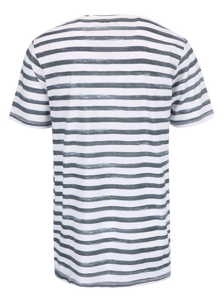 Tricou în dungi ONLY & SONS Seth bleu-alb