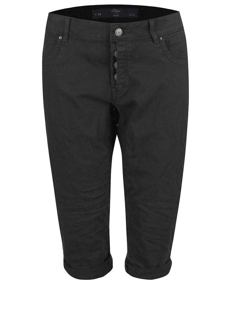 Pantaloni s.Oliver Catie 3/4 negri