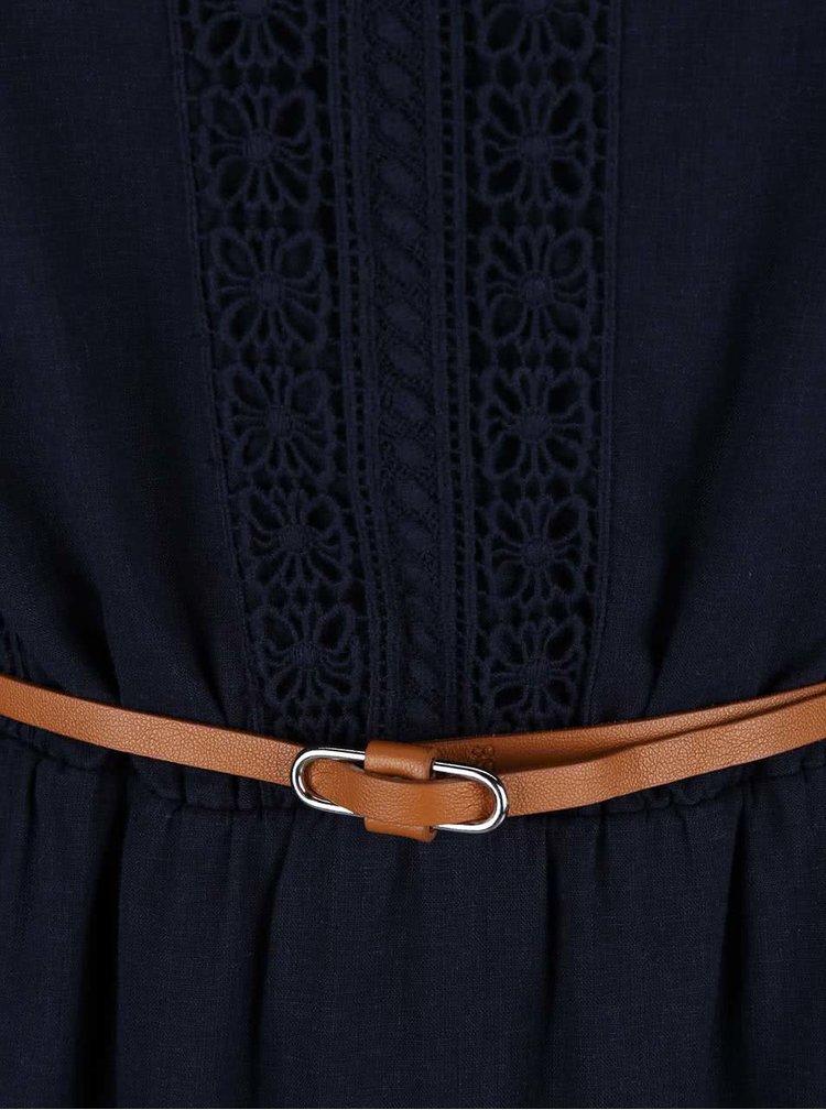 Rochie s.Oliver albastru-inchis cu detalii din dantela