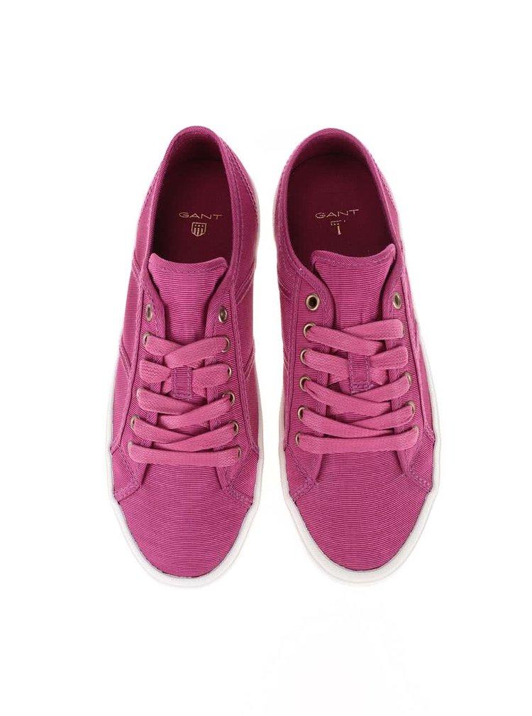 Růžové dámské tenisky s bílou podrážkou GANT Zoe