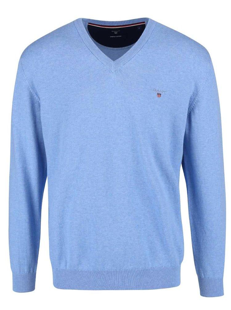 Světle modrý pánský svetr GANT