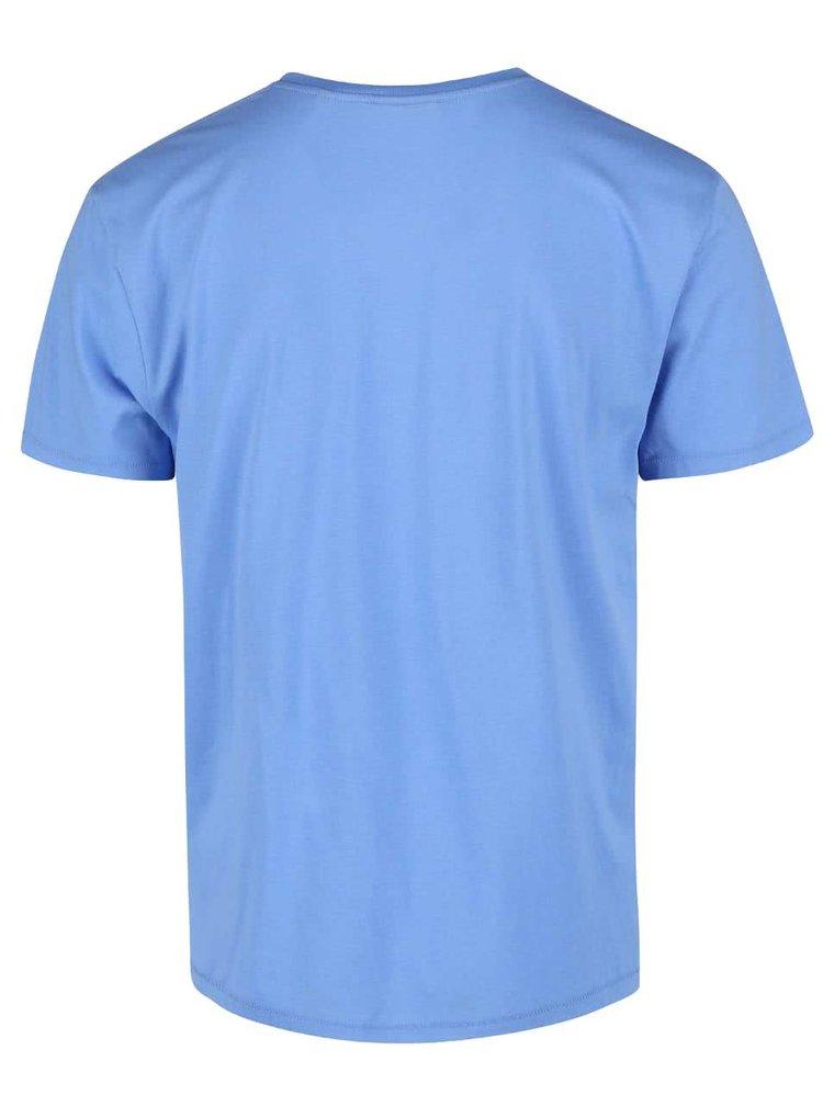 Modré pánske tričko s krátkym rukávom GANT