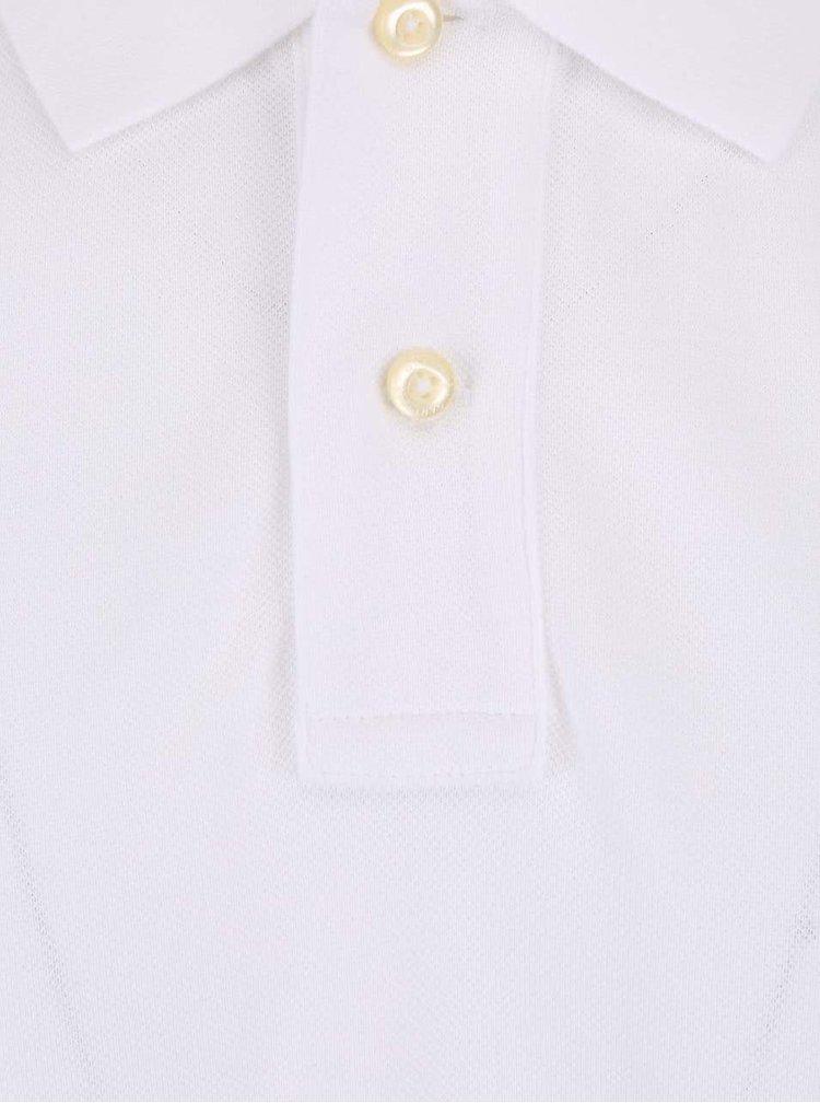 Biela pánska polokošeľa GANT Original Pique
