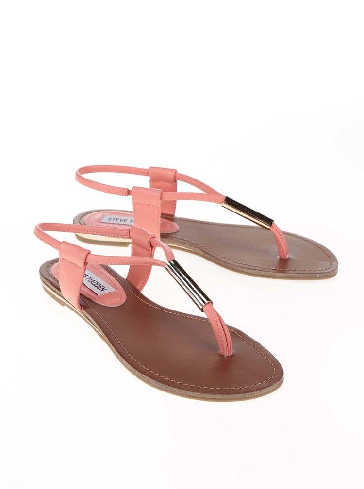 Korálové sandálky s detaily ve zlaté barvě Steve Madden Hammil