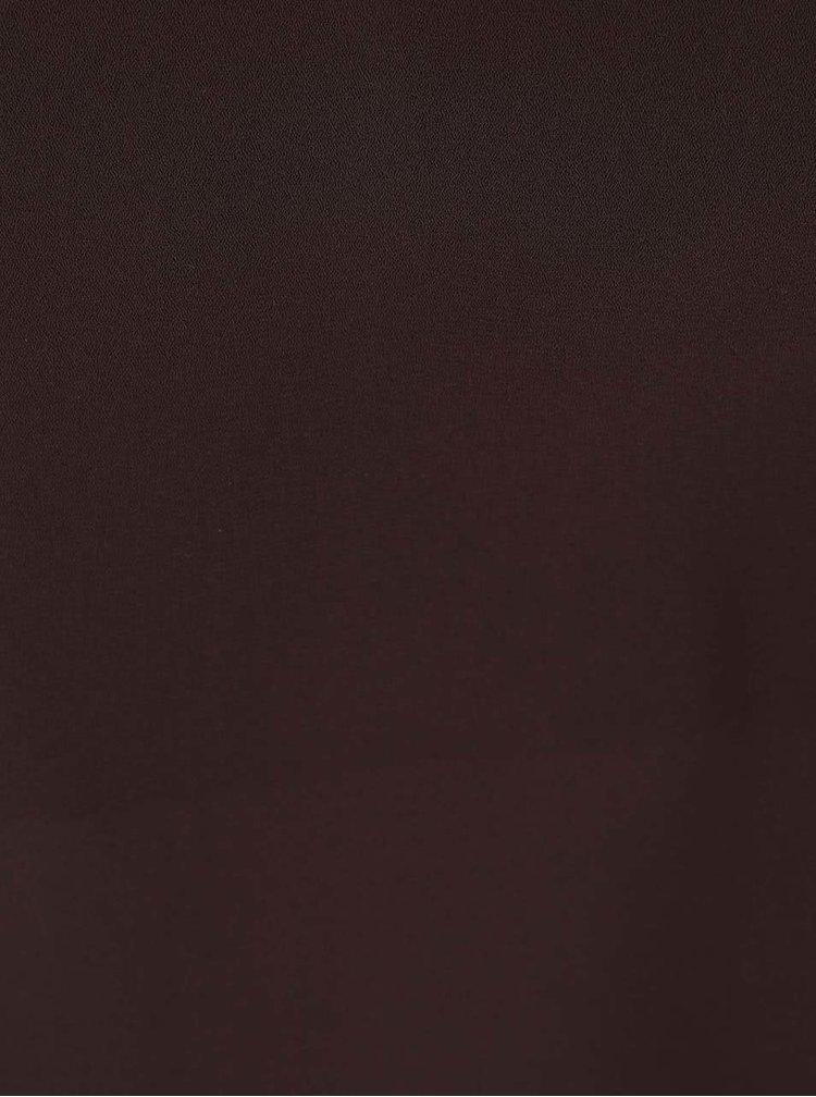 Hnedý top s véčkovým výstrihom Dorothy Perkins