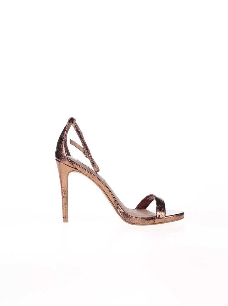 Dámské boty na podpatku v bronzové barvě Steve Madden Stecy
