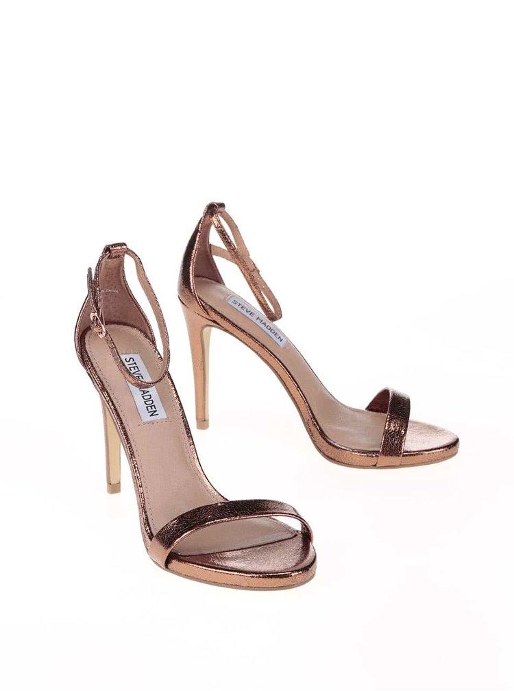 Sandale cu toc Steve Madden Stecy bronz