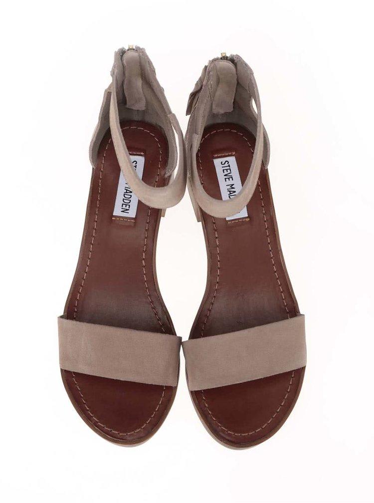 Sandale din piele Steve Madden Darcie bej