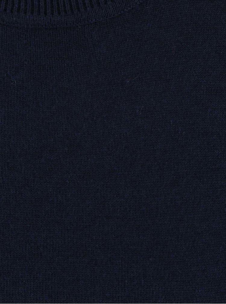 Tmavě modrý top se stojáčkem a vázáním Dorothy Perkins