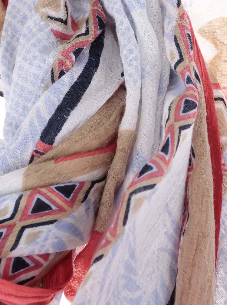 Farebná dámska vzorovaná šatka s.Oliver