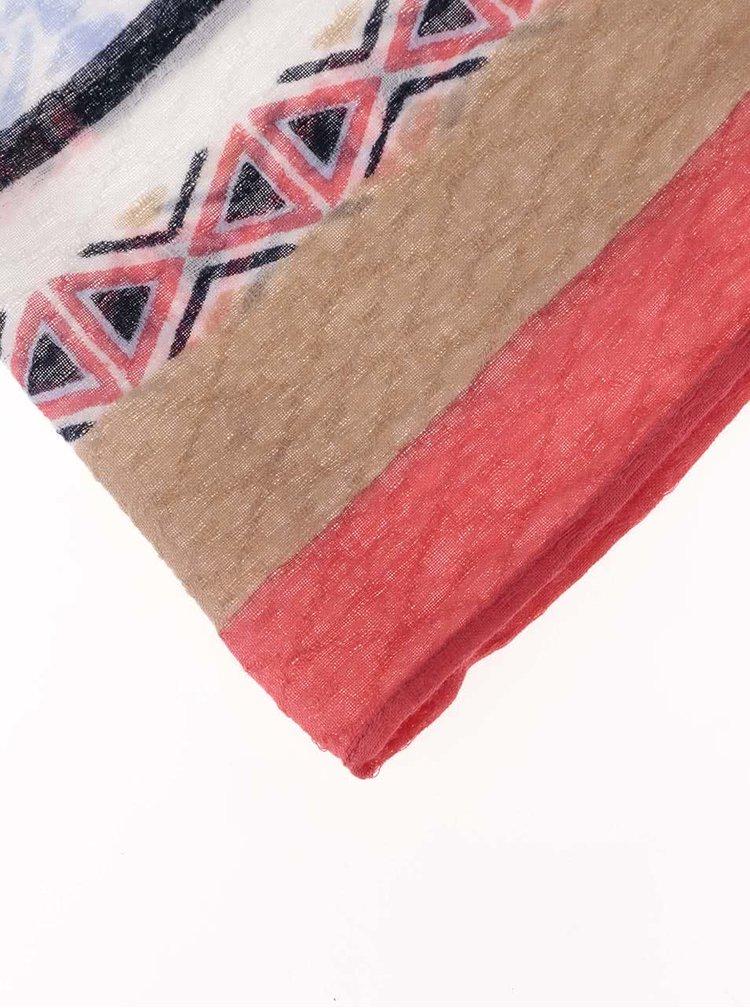 Barevný dámský vzorovaný šátek s.Oliver