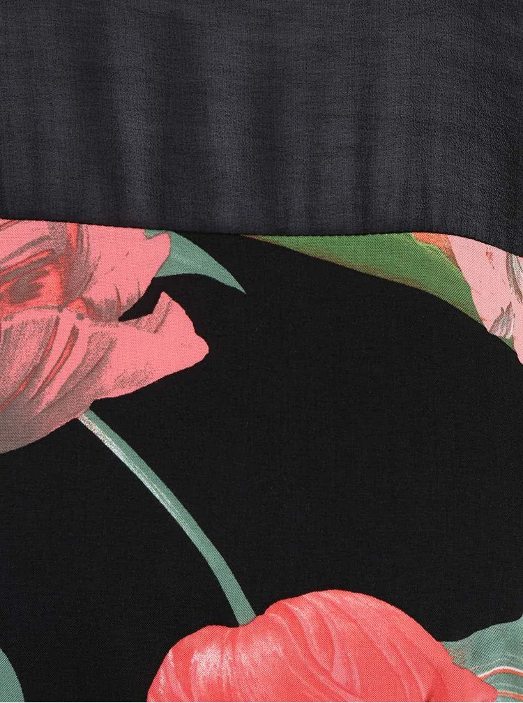 Černé šaty s potiskem tulipánů Dorothy Perkins