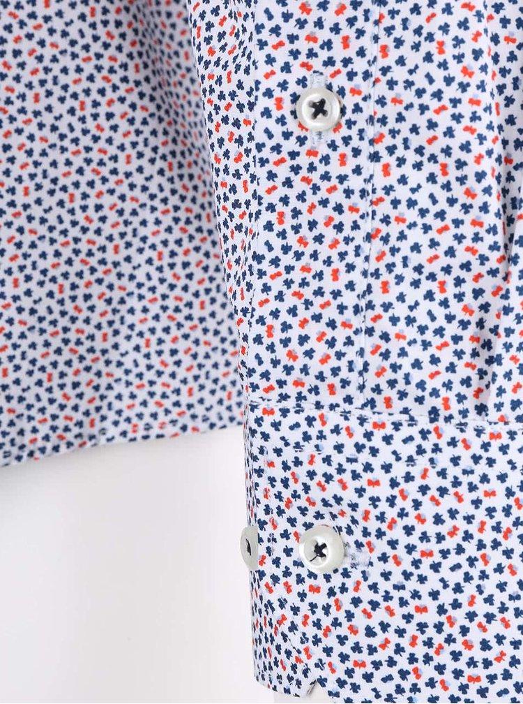 Oranžovo-modrá košile s jemným vzorem Seven Seas Butterfly