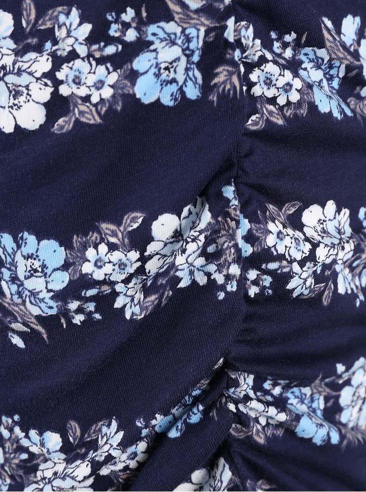 Tmavomodrý kvetovaný top bez rukávov Dorothy Perkins