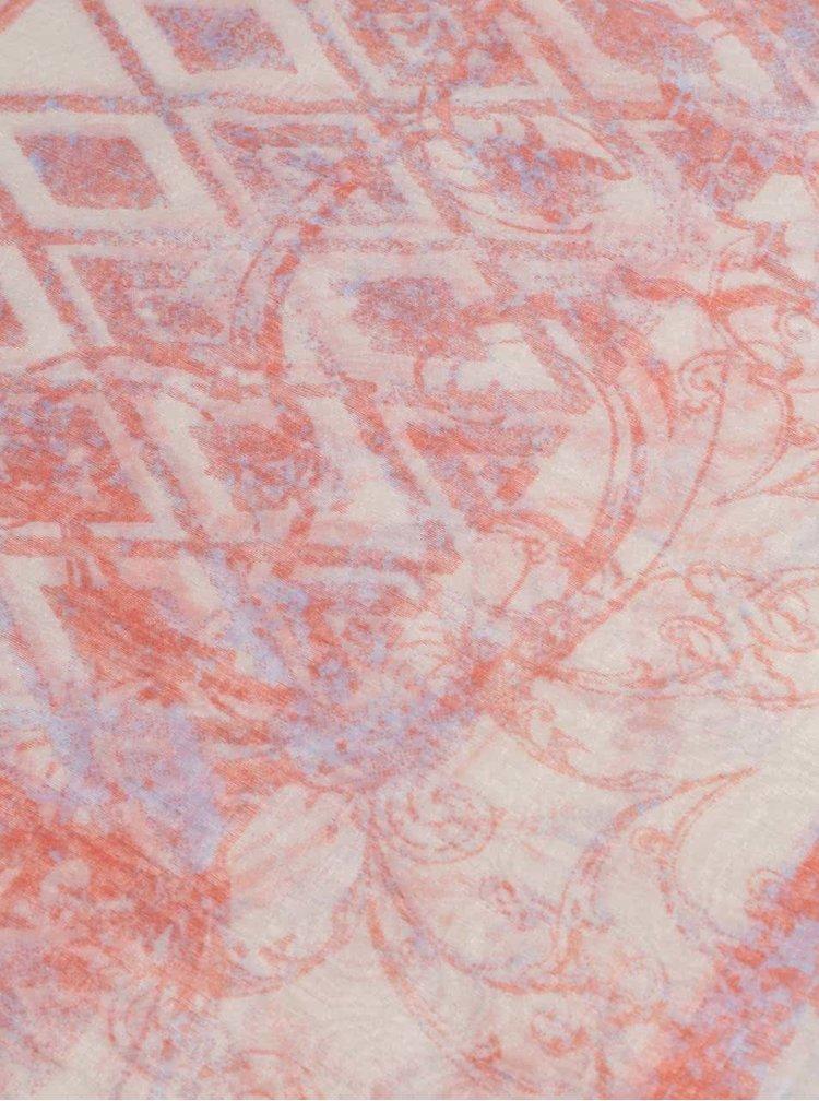 Eșarfă s.Oliver roșie/crem de damă