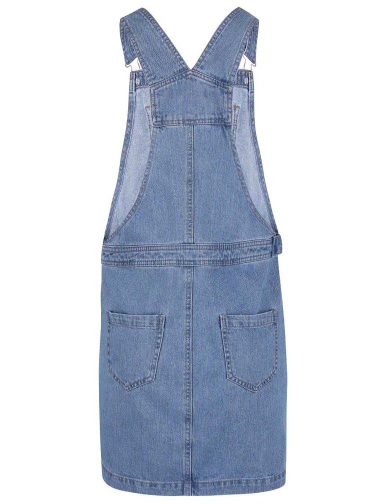 Modrá rifľová sukňa s trakmi Dorothy Perkins