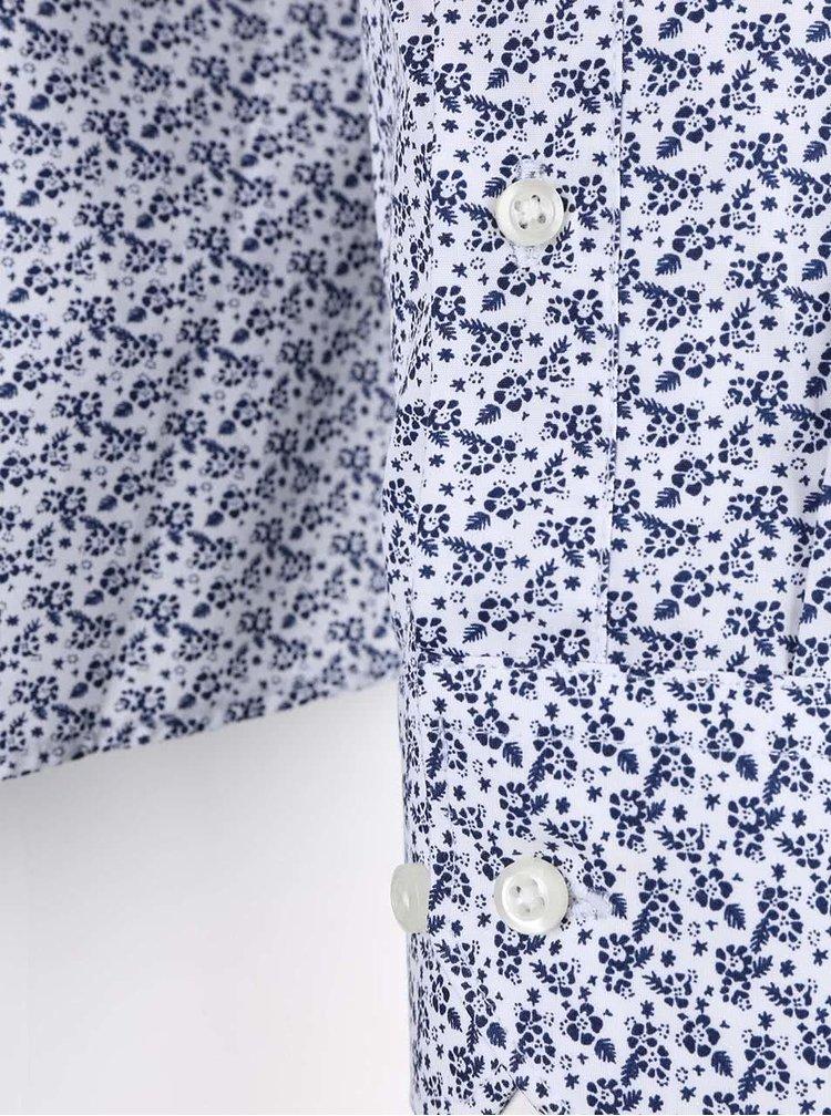 Bielo-modrá vzorovaná košeľa Seven Seas Blue Flower