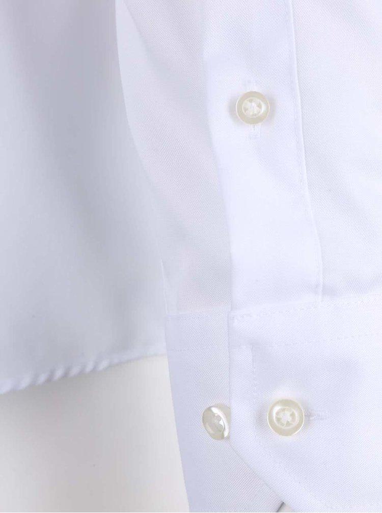 Biela pánska formálna  slim fit košeľa Seven Seas Fine Twill