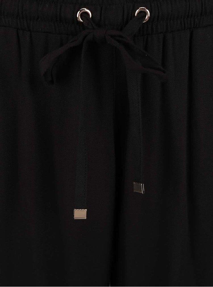 Čierne voľnejšie nohavice Dorothy Perkins Petite