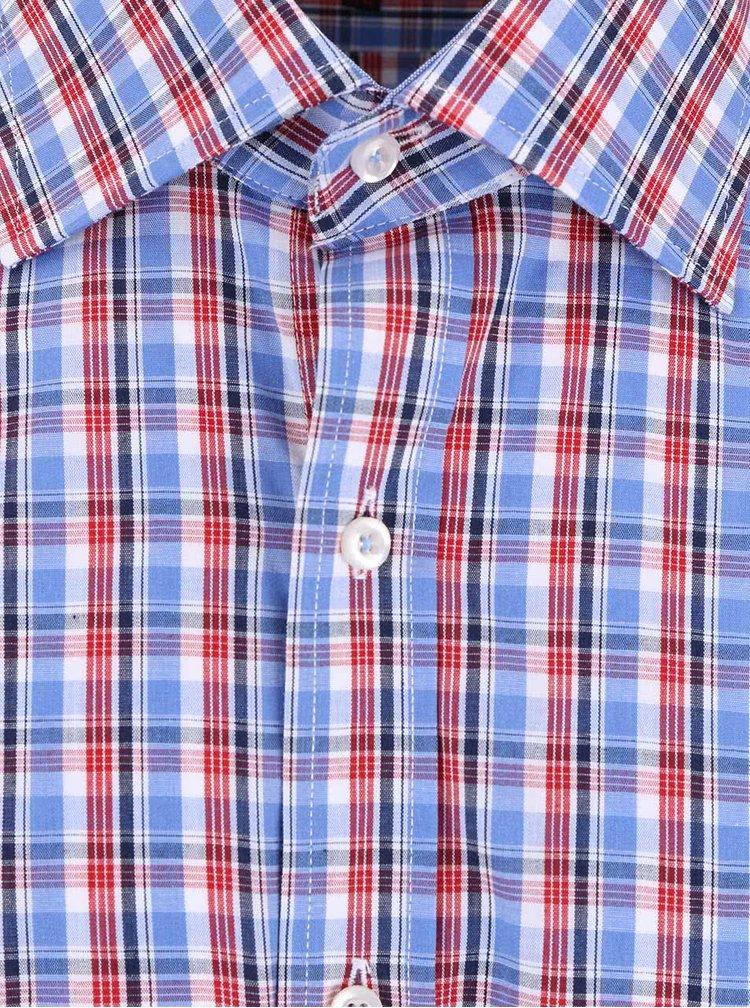 Červeno-modrá kockovaná košeľa Seven Seas Broadway