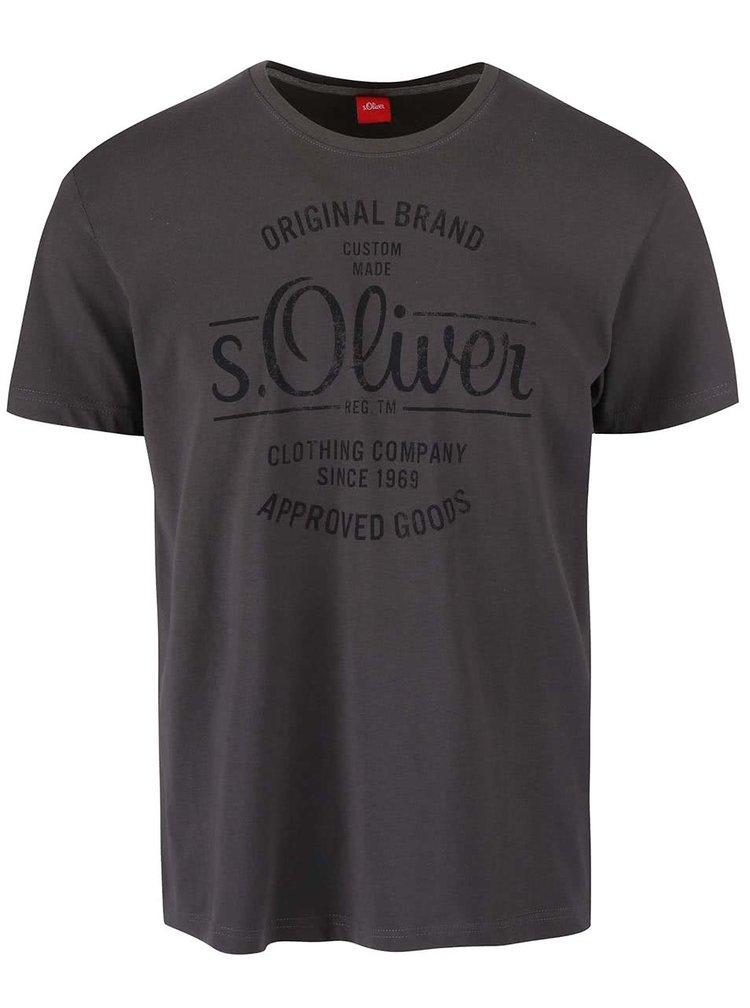 Tricou s.Oliver gri inchis barbatesc