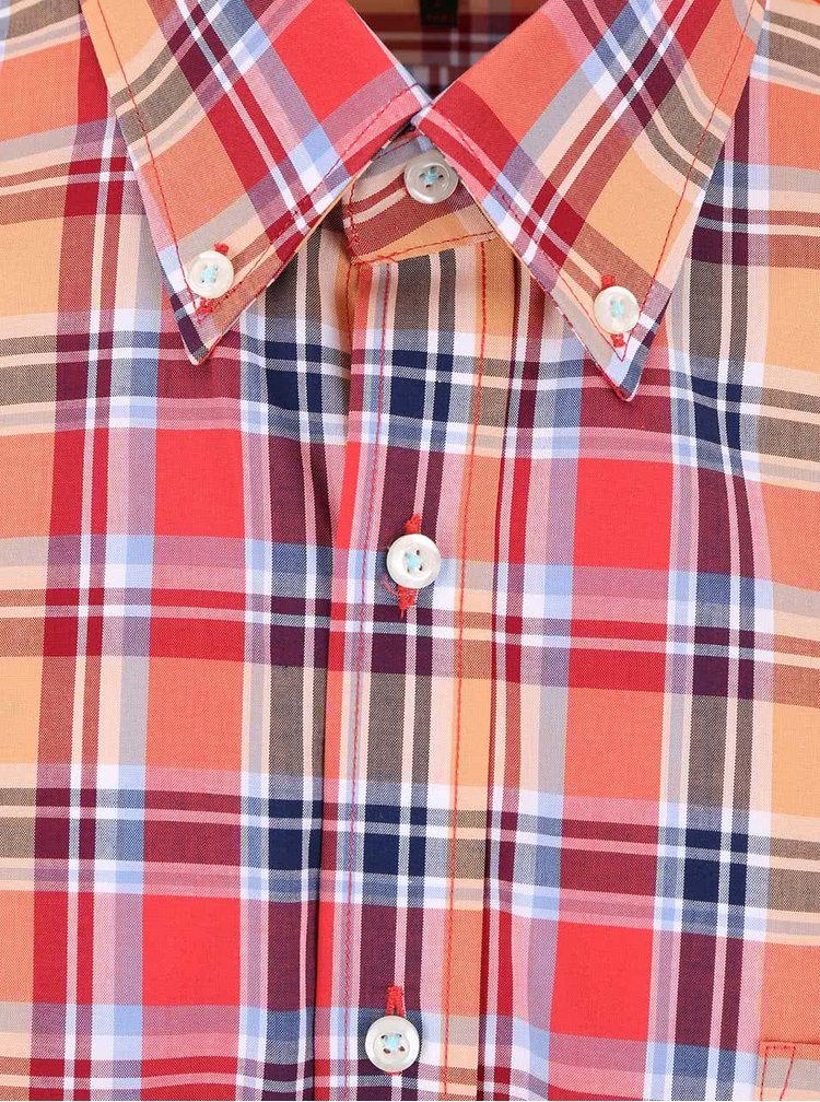 Červeno-modrá kockovaná košeľa Seven Seas