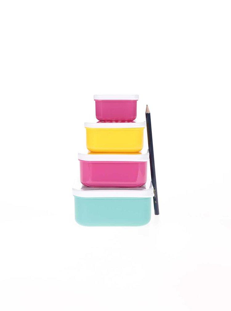 Sada barevných svačinových boxů Happy Jackson Healthy Snacks