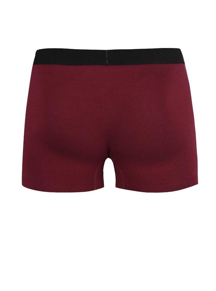 Vínové boxerky s černou gumou El.Ka Underwear