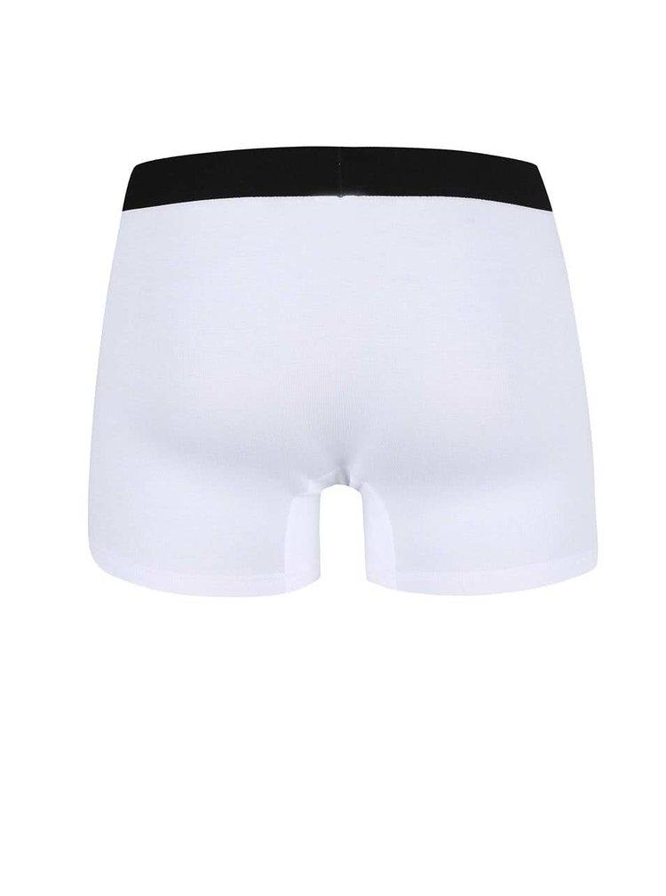 Bílé boxerky s černou gumou El.Ka Underwear